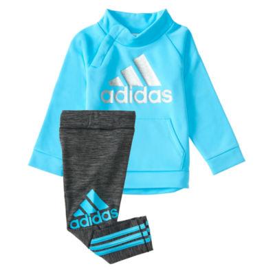 adidas 2-pc. Stripe Pant Set Baby Girls