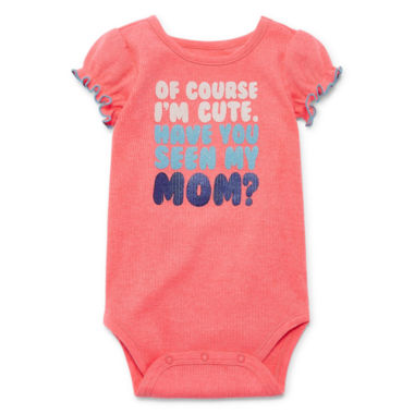 Okie Dokie Short Sleeve Graphic Bodysuit - Baby Girl NB-24M