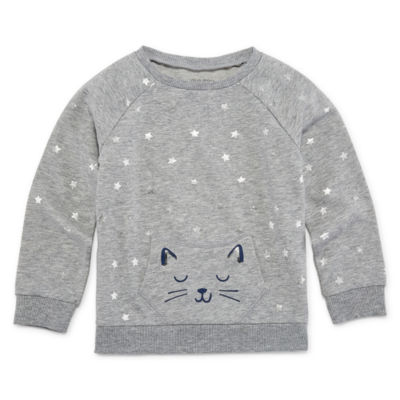 Okie Dokie Long Sleeve Pocket Sweatshirt - Toddler Girls