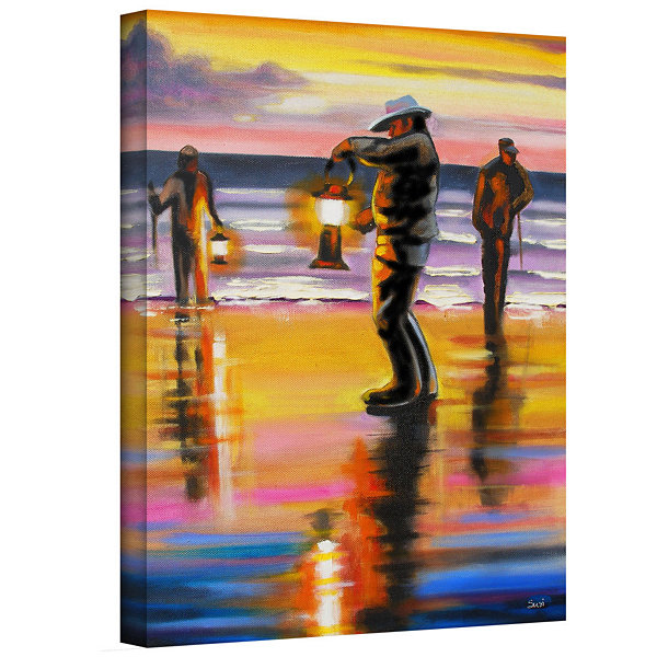 Brushstone Pacific Northwest Razor Clammers Gallery Wrapped Canvas Wall Art