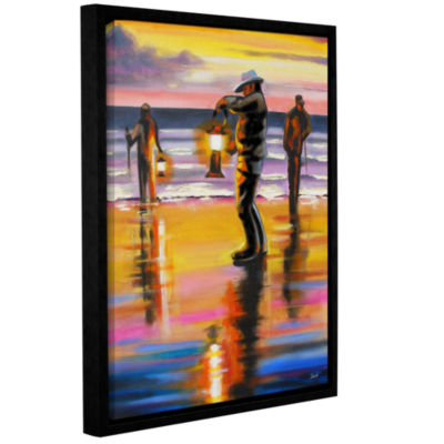 Brushstone Pacific Northwest Razor Clammers Gallery Wrapped Floater-Framed Canvas Wall Art