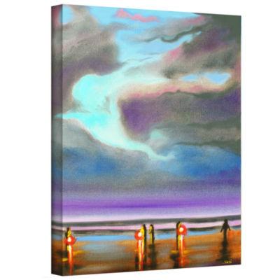 Brushstone Oregon Razor Clammers Gallery Wrapped Canvas Wall Art