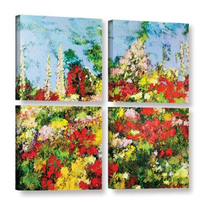 Brushstone Overgrown 4-pc. Square Gallery WrappedCanvas Wall Art