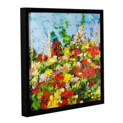 Brushstone Overgrown Gallery Wrapped Floater-Framed Canvas Wall Art