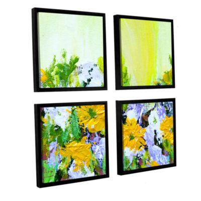 Brushstone Parade La Villet Garden 4-pc. Square Floater Framed Canvas Wall Art