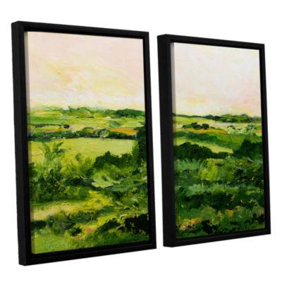 Brushstone Perry Green 2-pc. Floater Framed CanvasWall Art