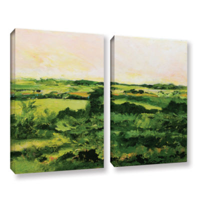 Brushstone Perry Green 2-pc. Gallery Wrapped Canvas Wall Art