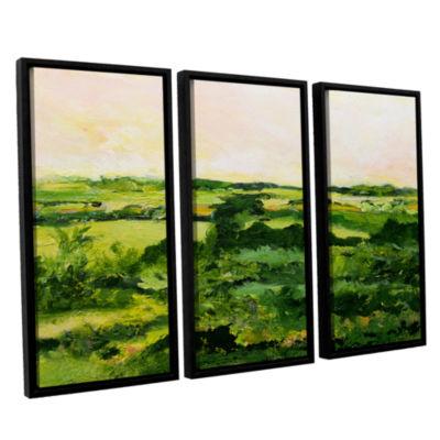 Brushstone Perry Green 3-pc. Floater Framed CanvasWall Art