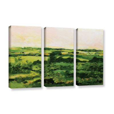 Brushstone Perry Green 3-pc. Gallery Wrapped Canvas Wall Art
