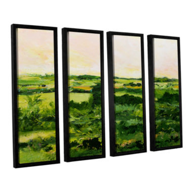 Brushstone Perry Green 4-pc. Floater Framed CanvasWall Art