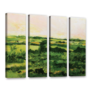 Brushstone Perry Green 4-pc. Gallery Wrapped Canvas Wall Art