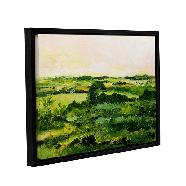 Brushstone Perry Green Gallery Wrapped Floater-Framed Canvas Wall Art