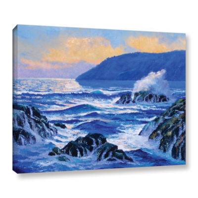 Brushstone Pacific Sunset Gallery Wrapped Canvas Wall Art