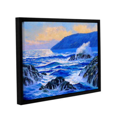 Brushstone Pacific Sunset Gallery Wrapped Floater-Framed Canvas Wall Art
