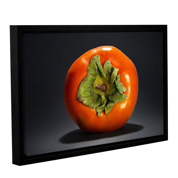 Brushstone Persimmon Gallery Wrapped Floater-Framed Canvas Wall Art
