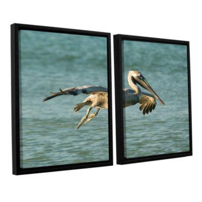 Brushstone Pelican11A 2-pc. Floater Framed CanvasWall Art