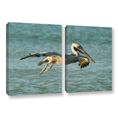 Brushstone Pelican11A 2-pc. Gallery Wrapped CanvasWall Art