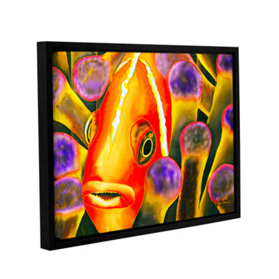 Brushstone Paradise Clownfish Gallery Wrapped Floater-Framed Canvas Wall Art