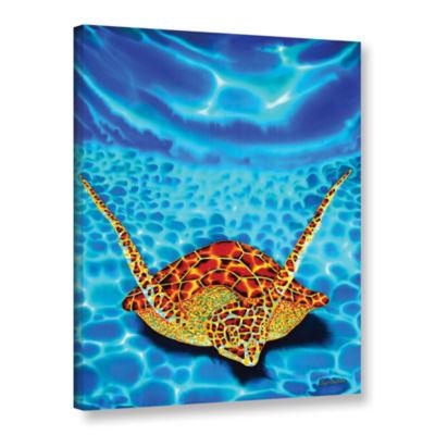 Brushstone Paradise Turtle Gallery Wrapped CanvasWall Art