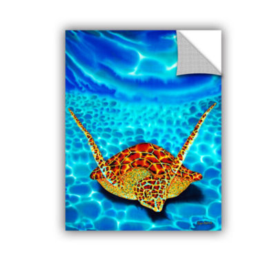 Brushstone Paradise Turtle Removable Wall Decal