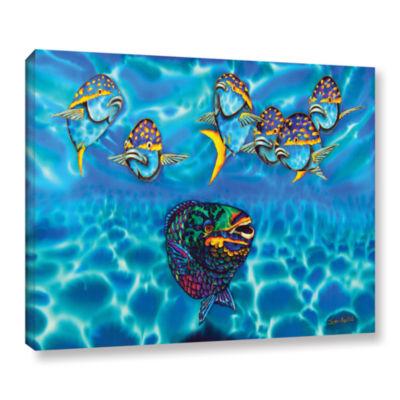 Brushstone Parrotfish Gallery Wrapped Canvas WallArt