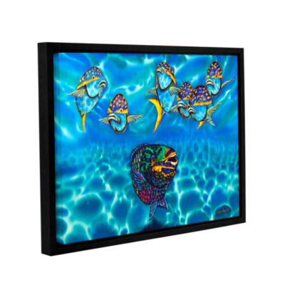 Brushstone Parrotfish Gallery Wrapped Floater-Framed Canvas Wall Art