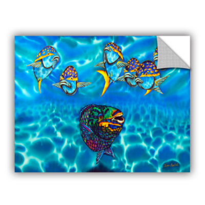 Brushstone Parrotfish Removable Wall Decal
