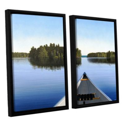 Brushstone Paddle Muskoka 2-pc. Floater Framed Canvas Wall Art