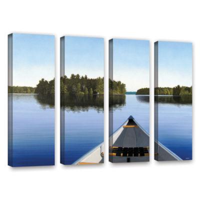 Brushstone Paddle Muskoka 4-pc. Gallery Wrapped Canvas Wall Art