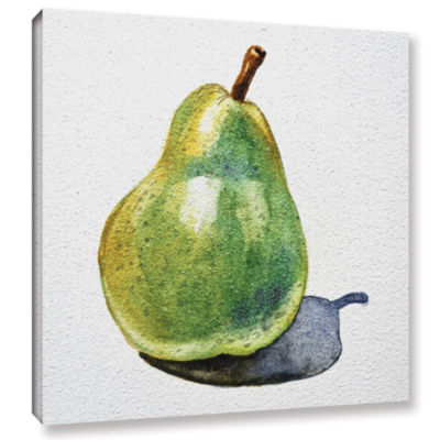 Brushstone Pear Gallery Wrapped Canvas Wall Art