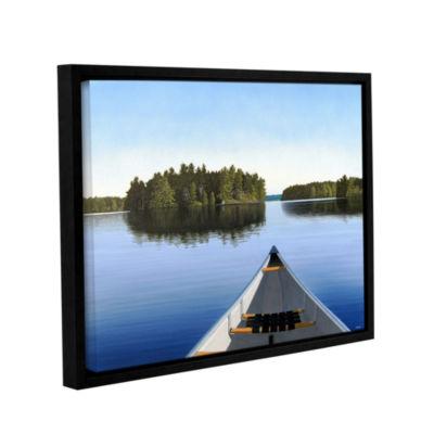 Brushstone Paddle Muskoka Gallery Wrapped Floater-Framed Canvas Wall Art