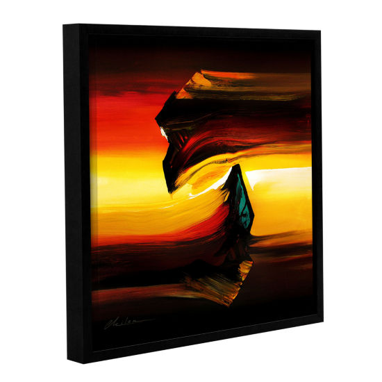 Brushstone Passing By Gallery Wrapped Floater-Framed Canvas Wall Art