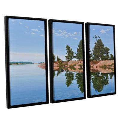 Brushstone Philip Edward Island 3-pc. Floater Framed Canvas Wall Art