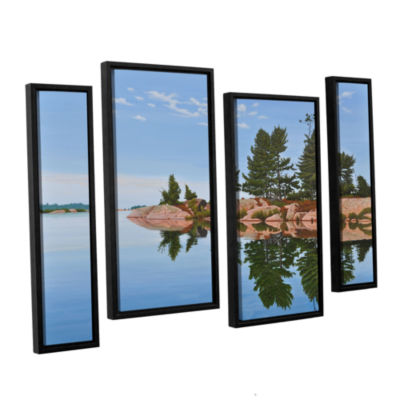 Brushstone Philip Edward Island 4-pc. Floater Framed Staggered Canvas Wall Art