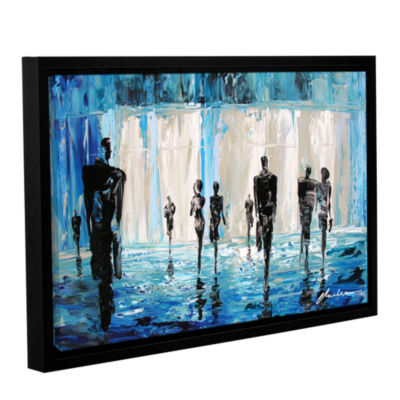 Brushstone Perfect Strangers Gallery Wrapped Floater-Framed Canvas Wall Art