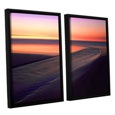 Brushstone Out To Sea 2-pc. Floater Framed CanvasWall Art