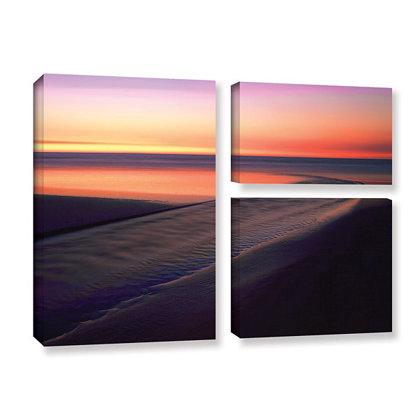 Brushstone Out To Sea 3-pc. Flag Gallery Wrapped Canvas Wall Art