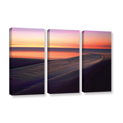Brushstone Out To Sea 3-pc. Gallery Wrapped CanvasWall Art