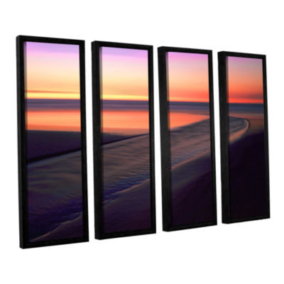 Brushstone Out To Sea 4-pc. Floater Framed CanvasWall Art