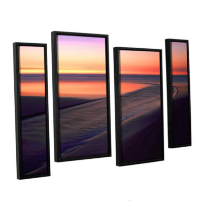 Brushstone Out To Sea 4-pc. Floater Framed Staggered Canvas Wall Art
