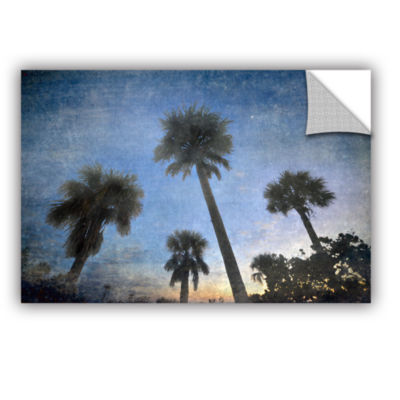 Brushstone Palms At Sunset Removable Wall Decal