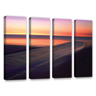 Brushstone Out To Sea 4-pc. Gallery Wrapped CanvasWall Art