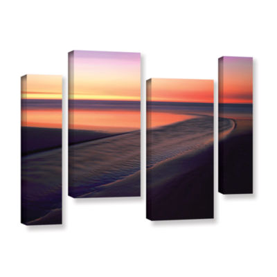 Brushstone Out To Sea 4-pc. Gallery Wrapped Staggered Canvas Wall Art