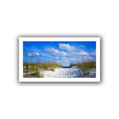 Brushstone Path To The Ocean Canvas Wall Art