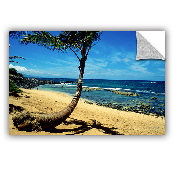 Brushstone Palm Tree In Paradise (Beach Front) Removable Wall Decal