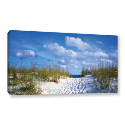 Brushstone Path To The Ocean Gallery Wrapped Canvas Wall Art