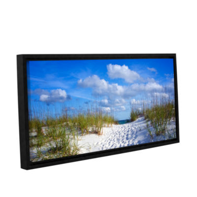 Brushstone Path To The Ocean Gallery Wrapped Floater-Framed Canvas Wall Art
