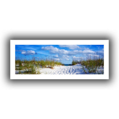 Brushstone Pathway In The Sand Canvas Wall Art