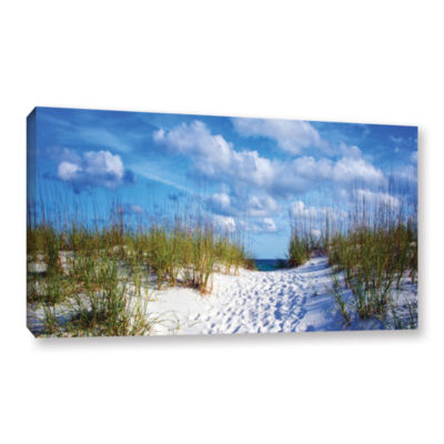 Brushstone Pathway In The Sand Gallery Wrapped Canvas Wall Art