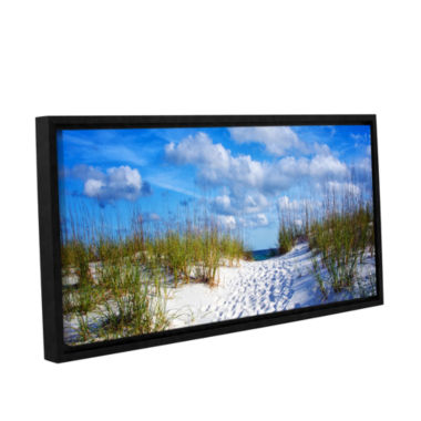 Brushstone Pathway In The Sand Gallery Wrapped Floater-Framed Canvas Wall Art